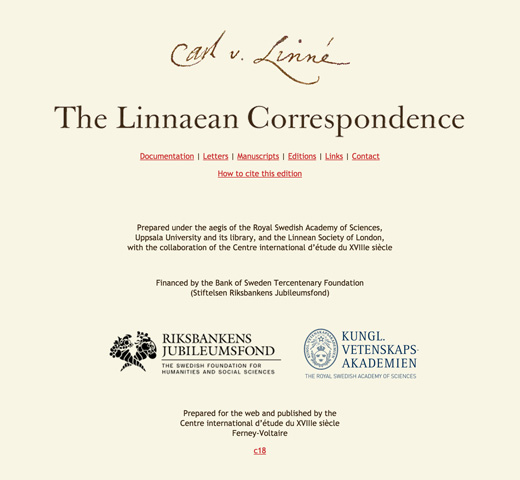 The Linnaean Correspondence